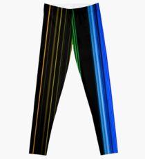 Vertical Rainbow Bars Leggings