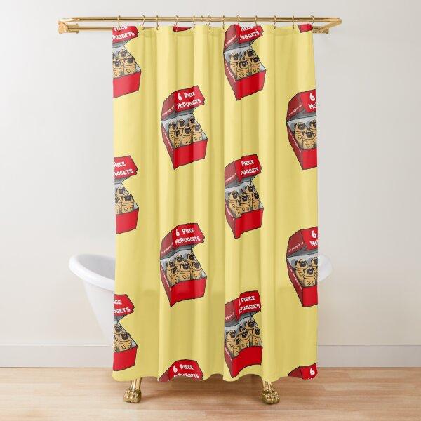 "6 Piece McPuggets: ""i'm puggin' it"" Shower Curtain"
