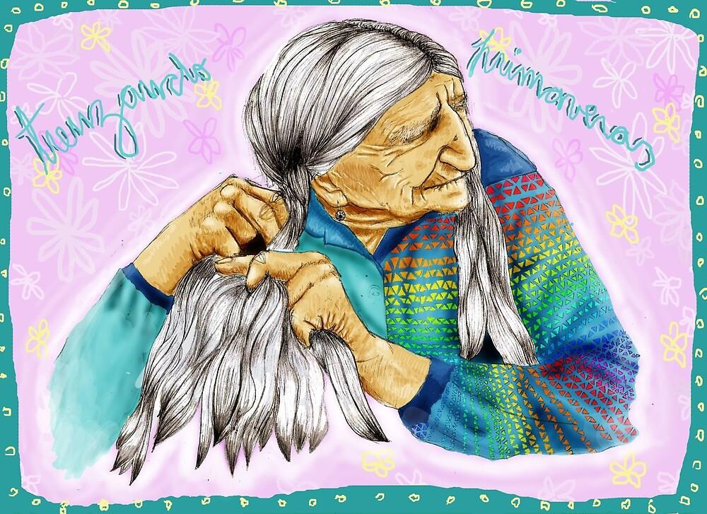 old woman braid by cotyarnau