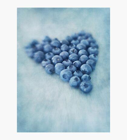 I love blueberries Photographic Print