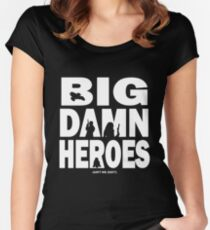 Big Damn Heroes White Women's Fitted Scoop T-Shirt
