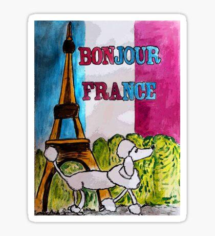 Bonjour France Sticker
