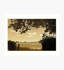 Rural Land, East Devon Art Print