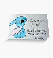 The Best Lilo and Stitch Quote Greeting Card