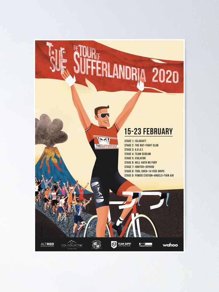 Alternate view of Tour of Sufferlandria 2020 Poster