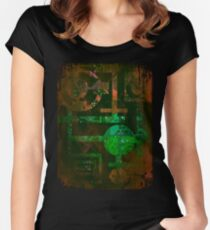 Midnight In Vector 5  Women's Fitted Scoop T-Shirt