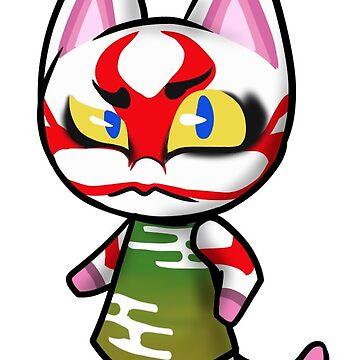 Animal Crossing Kabuki The Cat by Raythebishie
