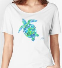 Sea Turtle no splots by Jan Marvin Women's Relaxed Fit T-Shirt