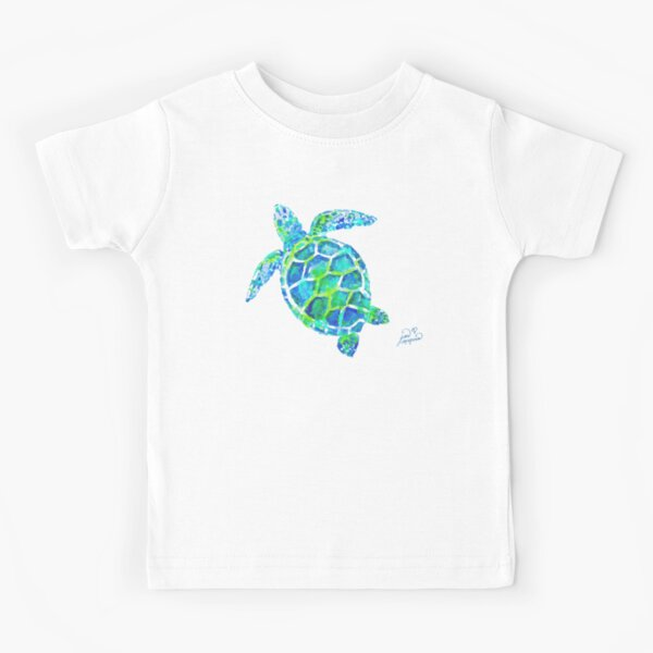 Sea Turtle no splots by Jan Marvin Kids T-Shirt