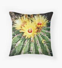 Barrel Cactus 2 © Throw Pillow