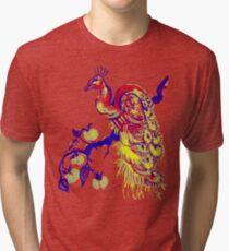 Peacock in a Peach Tree (Remix) Tri-blend T-Shirt