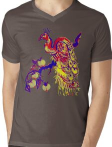 Peacock in a Peach Tree (Remix) Mens V-Neck T-Shirt
