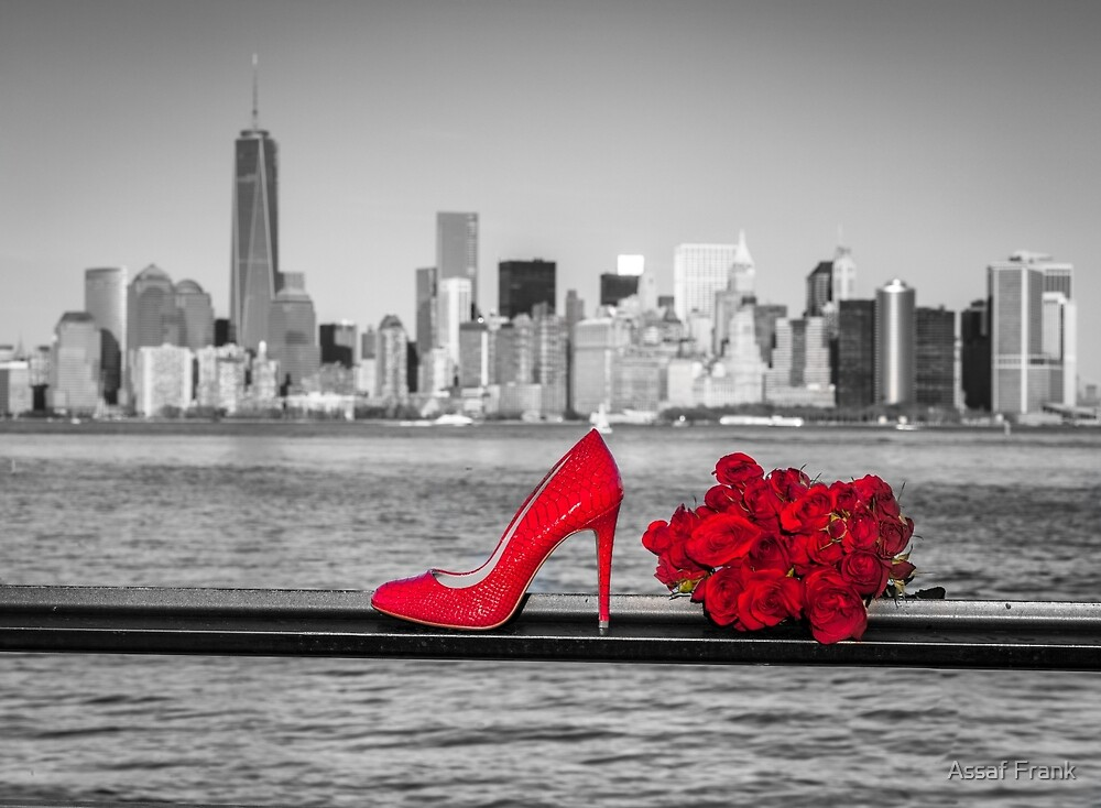 High Heel Shoe With Bunch Of Roses by Assaf Frank