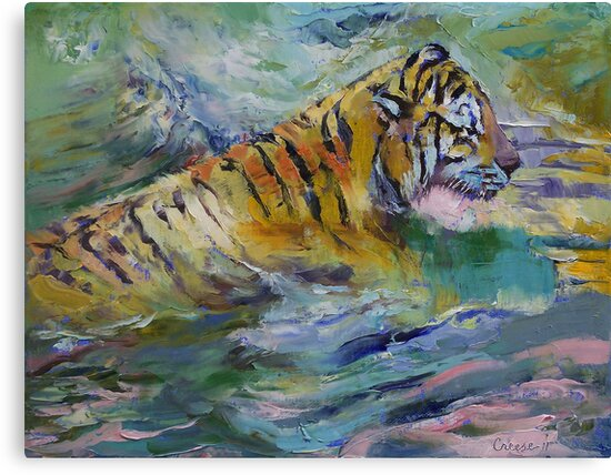 Tiger Reflections by Michael Creese