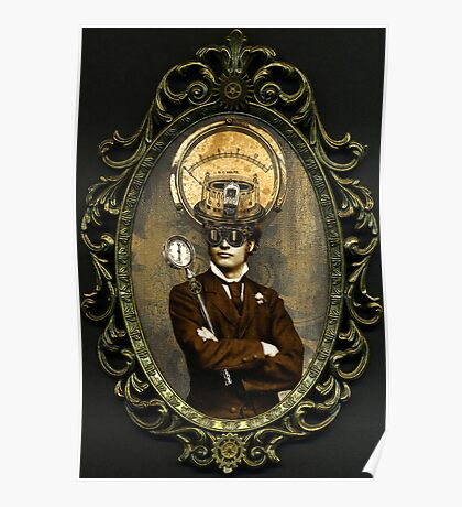 Steampunk Civil War Portrait: Silas Poster