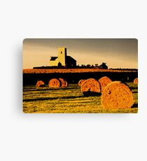 The church on the hill. Canvas Print