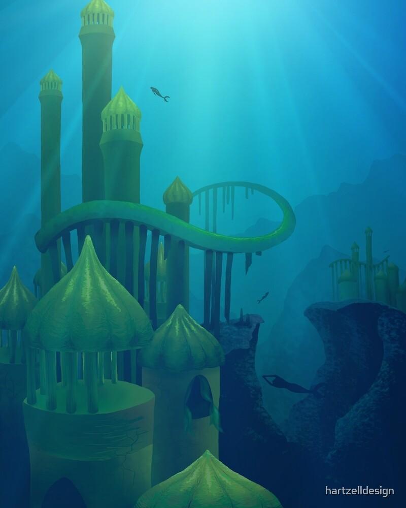 Lost Mermaid City by hartzelldesign