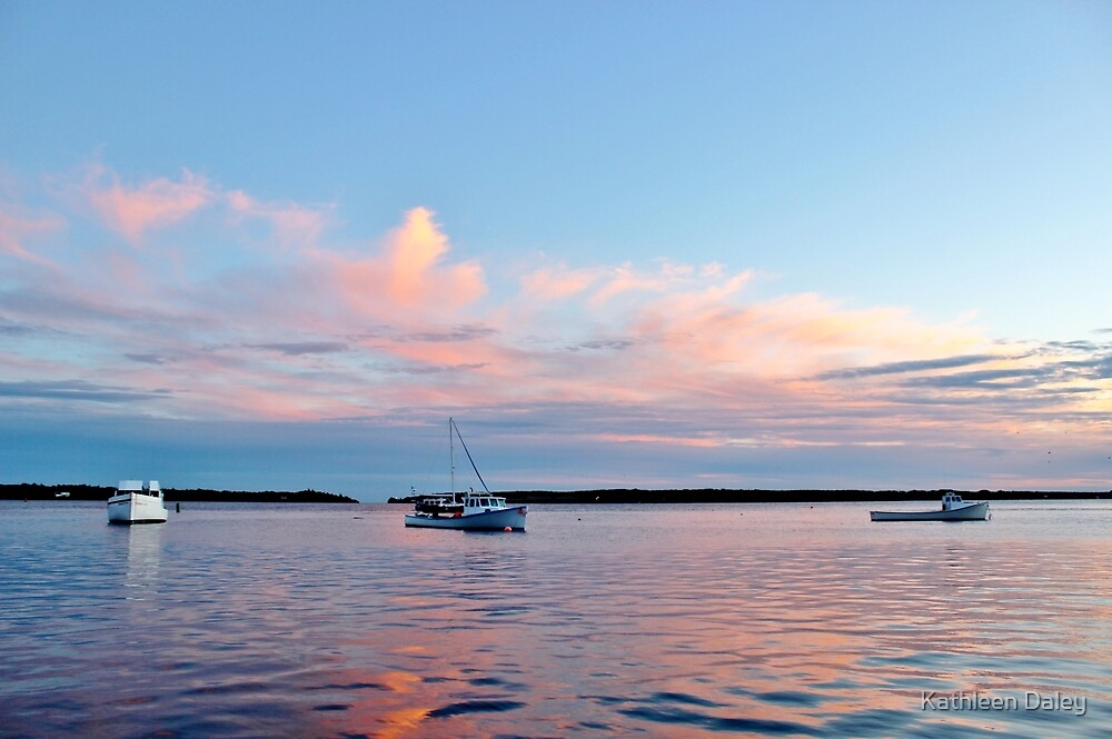 Sunset on the Charlottetown Harbour by Kathleen Daley