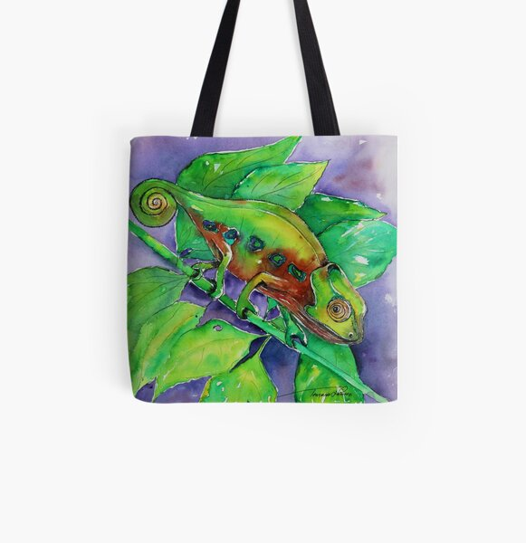 Chameleon All Over Print Tote Bag