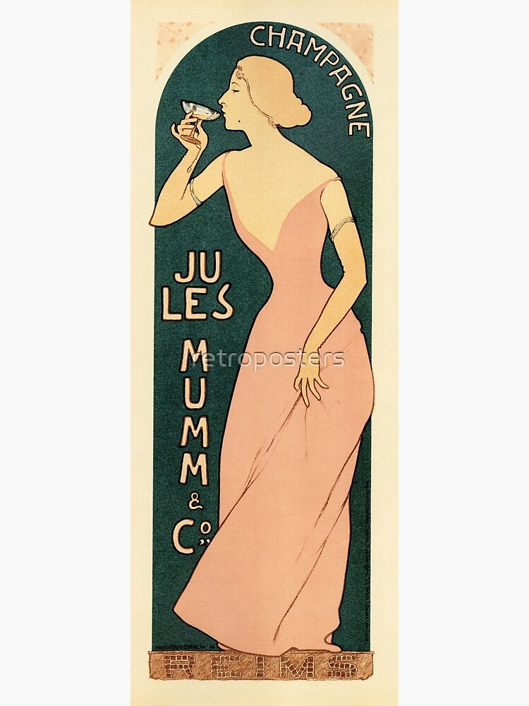 CHAMPAGNE JULES MUMM by Maurice Realier-Dumas c1895 Vintage France Wine Advertisement by retroposters
