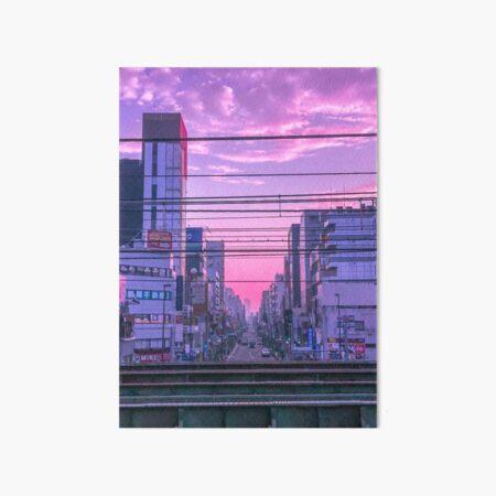 Tokyo Skies Art Board Print