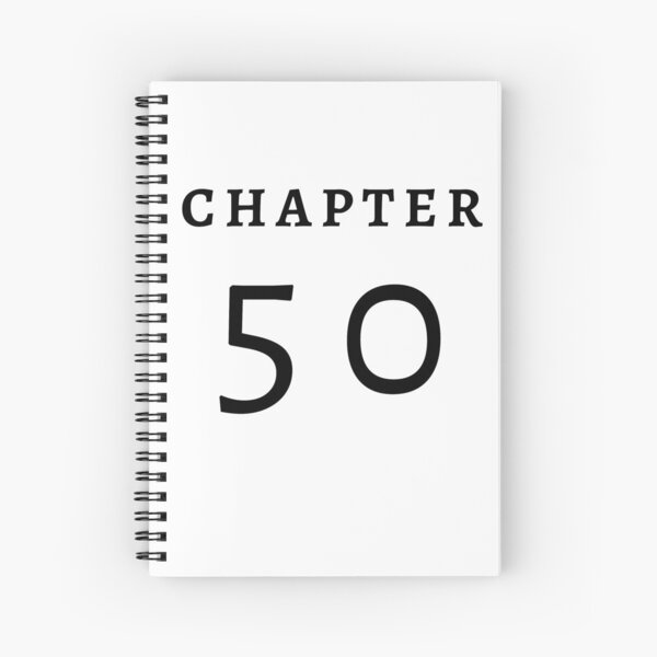 CHAPTER 50 birthday gift for 50 years old | 50s Stickers Spiral Notebook