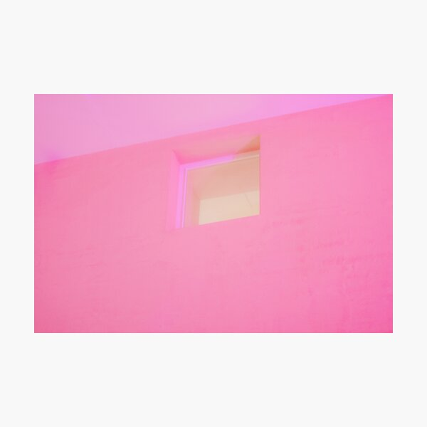 Pink wall. Photographic Print