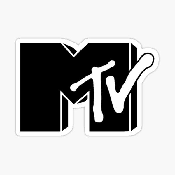 Logotipo de la etiqueta MTv Pegatina