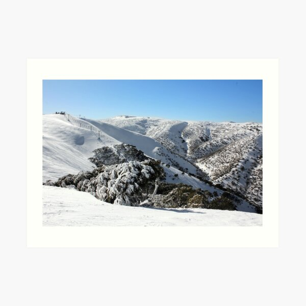 Hotham ski slopes Art Print