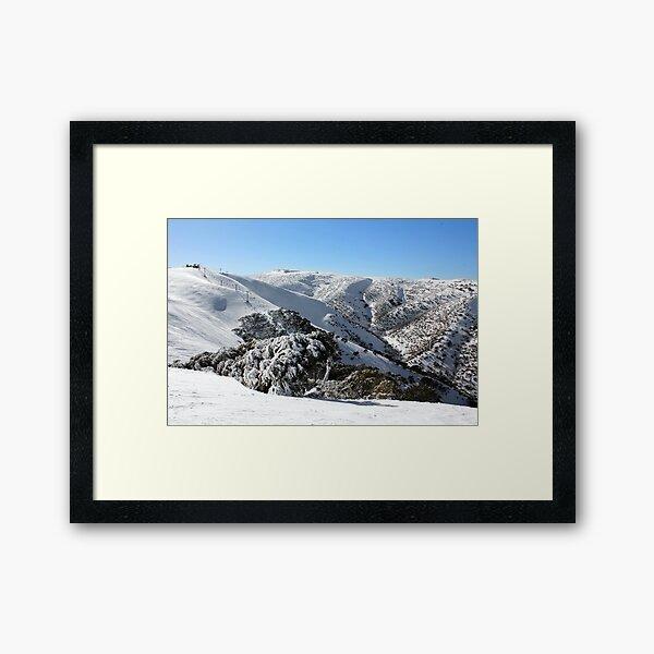 Hotham ski slopes Framed Art Print
