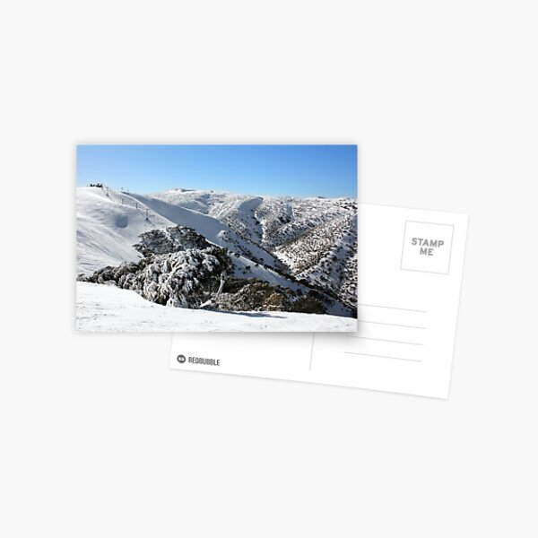 Hotham ski slopes Postcard
