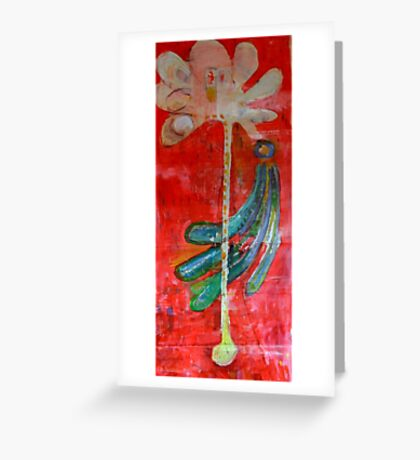 The peacock and the tree Greeting Card