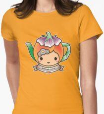 Sencha Peach Teapot Women's Fitted T-Shirt