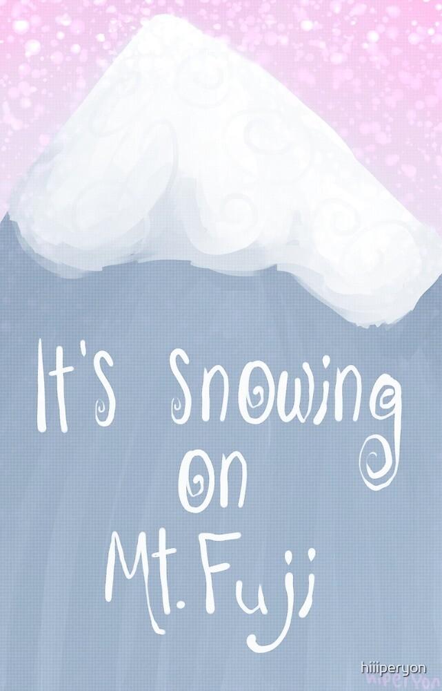 it's snowing on mt. fuji by trashguts