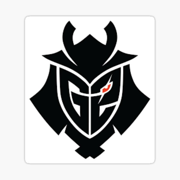 G2 logo negro ojo rojo Pegatina