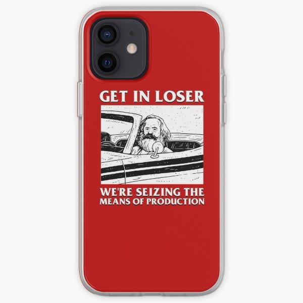 Kommunisten und Kommunismusfans überall. Original Get In Loser Karl Marx Shirt Design mit Original Karl Marx in kommunistischen Kunstwerken. iPhone Flexible Hülle