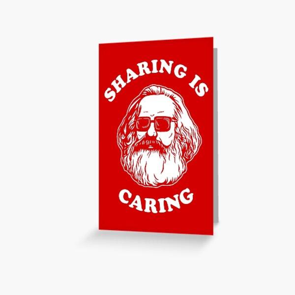 Sharing Is Caring Greeting Card