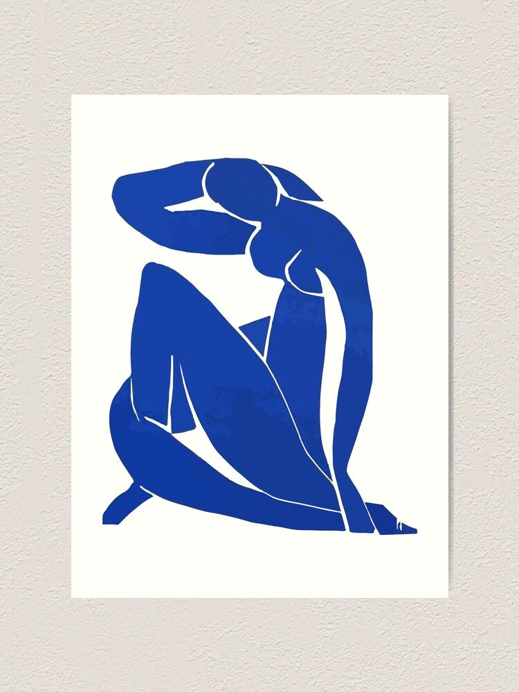 Alternate view of Henri Matisse - Blue Nude 1952 - Original Artwork Reproduction Art Print
