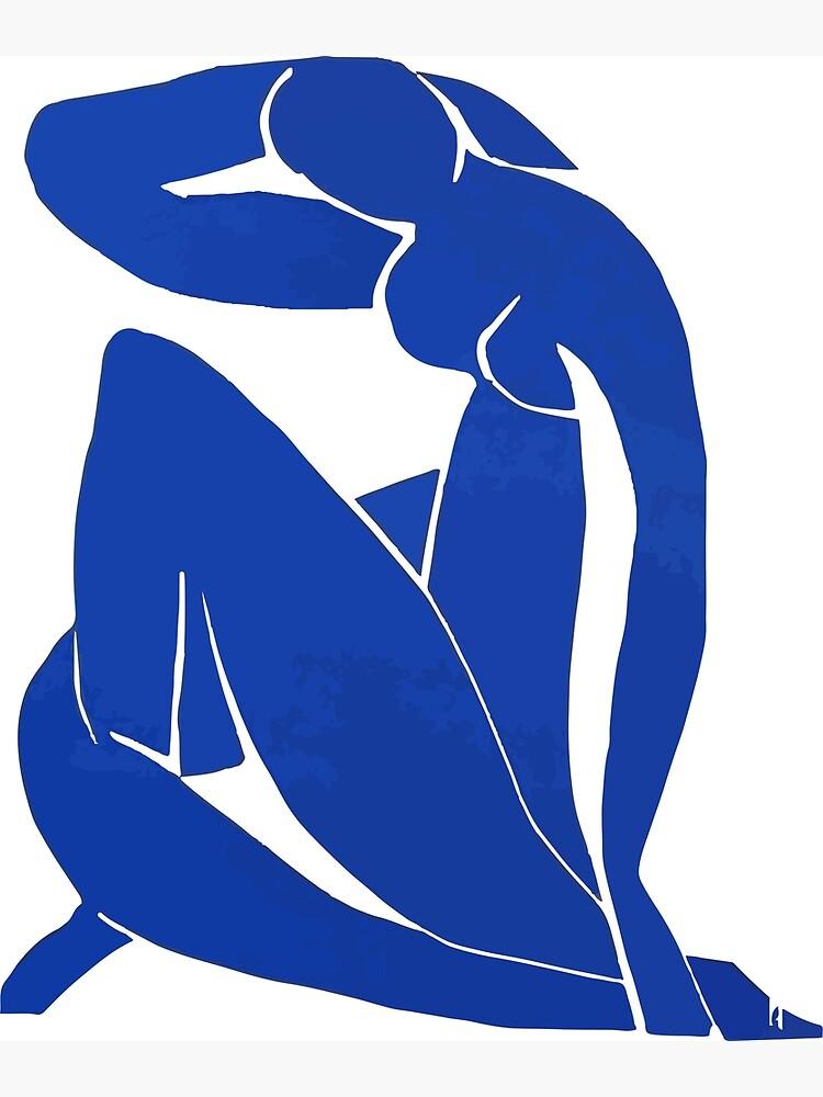 Henri Matisse - Blue Nude 1952 - Original Artwork Reproduction by clothorama