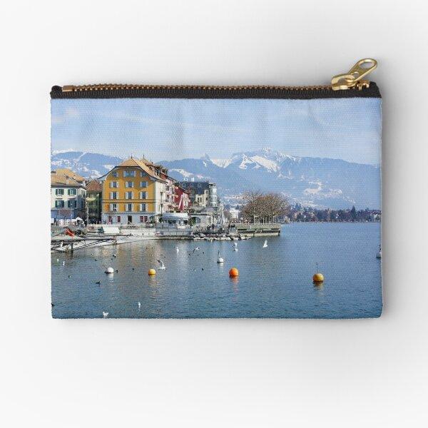 Vevey on the lake Geneva in Switzerland Zipper Pouch