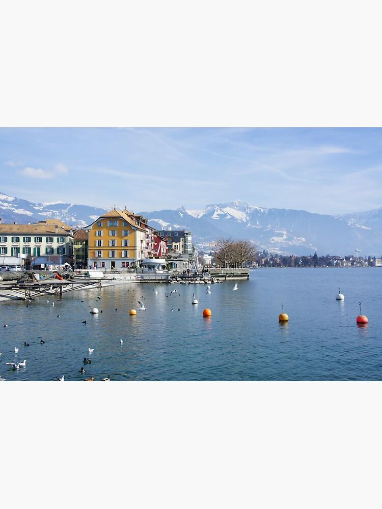 Vevey on the lake Geneva in Switzerland by santoshputhran