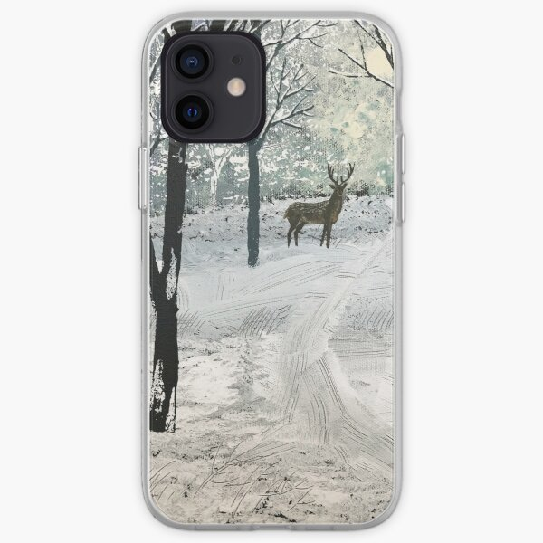 Stag in the Snow iPhone Soft Case