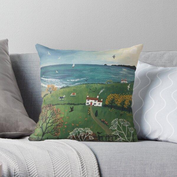 Autumn by the Sea Throw Pillow