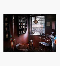 Barber - The country barber  Photographic Print