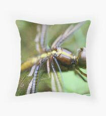 Dragon Fly  Macro Throw Pillow