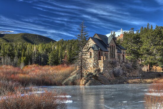 Quot Chapel On The Rock Mt Meeker Colorado Quot Poster By