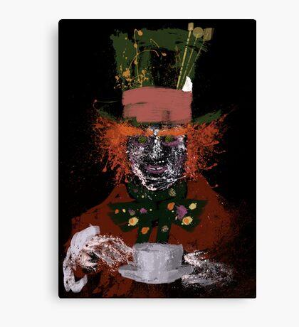 Hatter splatter Canvas Print