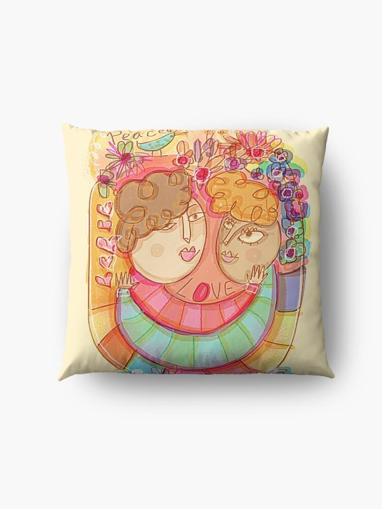 Alternate view of Love & Peace Floor Pillow