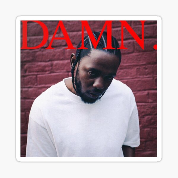 DAMN album cover by Kendrick Lamar Sticker