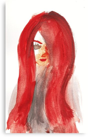 Red Lady Portrait by rosemaloney